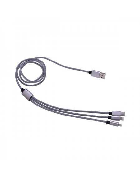 Adapter Cable 3 in 1 Lightning Type-C micro USB - Tekmee-1